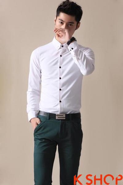 Áo sơ mi nam trắng đẹp 2017 cho chàng trai đến công sở trẻ trung năng động
