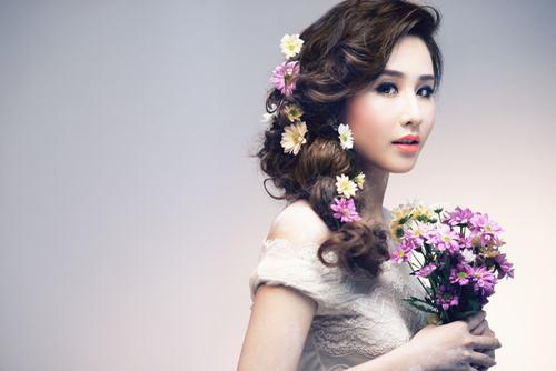 Tóc cô dâu đẹp cho nàng khuôn mặt tròn lộng lẫy nhất